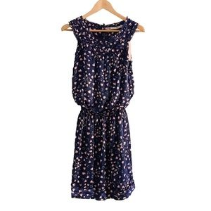 NWT CHELSEA & VIOLET Navy Dress With Hearts Sz M